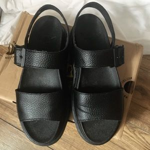Dr. Martens Romi Women's Leather Y Strap Sandals